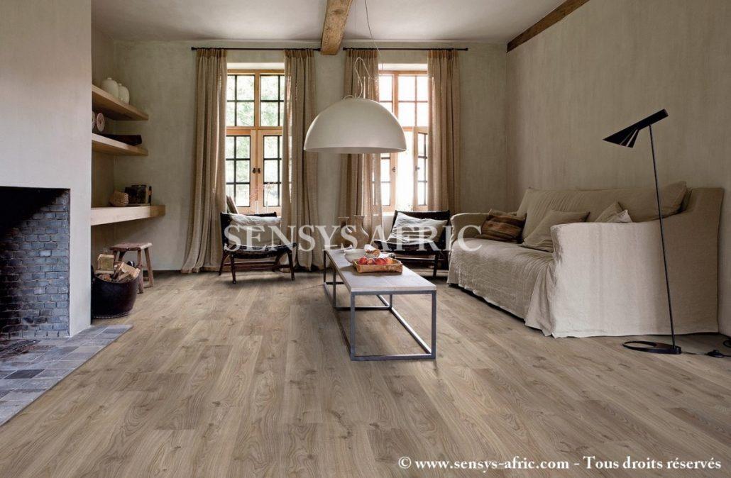 Charmant Lame Vinyle Imitation Parquet #15: ... Lame-pvc-clipsable-avec-quatre-chanfreins-livyn-balance- ...
