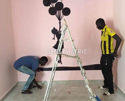 Chambre-denfant-Sénégal-495x400 Décoration chambre enfant  Sensys Afric - Laissez libre court à votre imagination