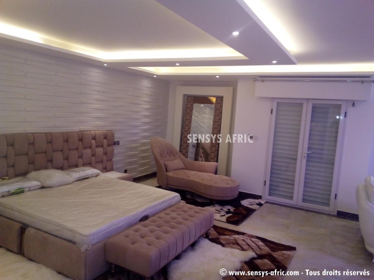 D coration chambre coucher sensys afric for Faux plafond chambre enfant