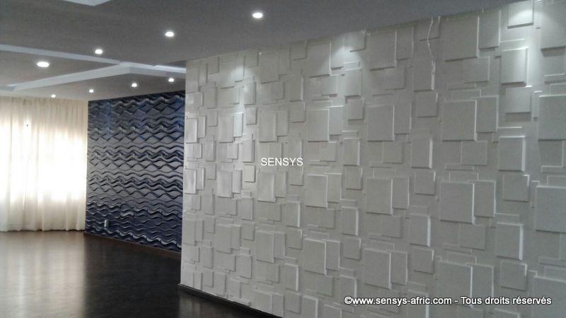 Décoration-murale-Panneaux-3D-mur-design-restaurant-à-Dakar-Thiès-Saint-Louis-Sénégal-Sensys-4 Décoration restaurant à Dakar, Sénégal.