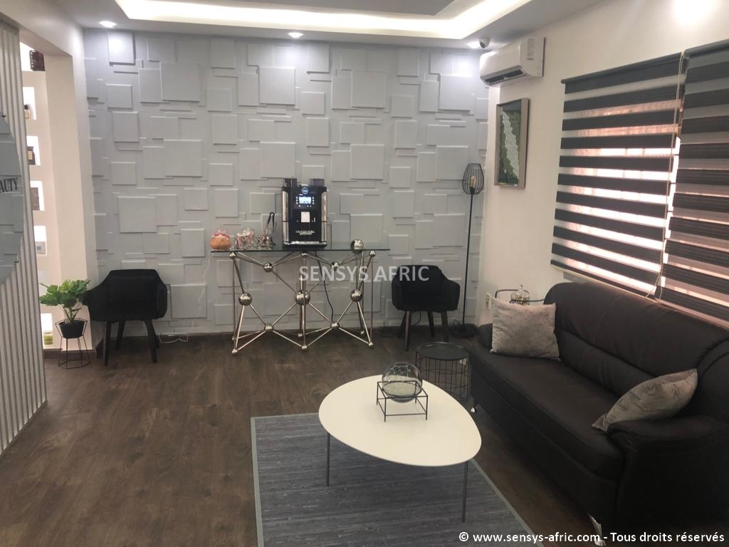 Panneaux-3D-Dakar-Thiès-Saint-Louis-Décoration-intérieur-Sensys-Afric-Design-boutique-Atélier-beauty Décoration Salon Moderne