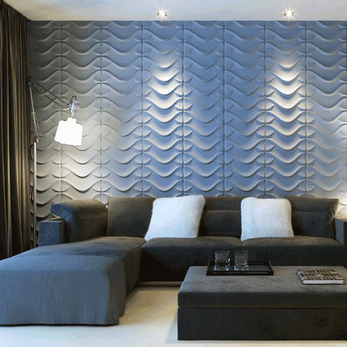 Panneaux-3D Décoration Salon Moderne