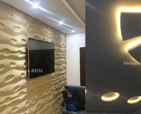 Decoration De Salon Model De Faux Plafond Senegal Sensys Afric