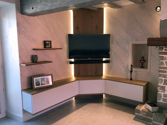 Meubles-tv-lumineux-Dakar-décoration-salon-sénégal-design-dintérieur-sensys-Afric Décoration intérieure