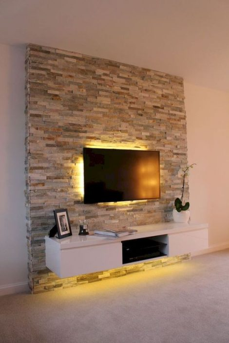 habillage-de-mur-salon-en-pierre-naturelle-au-Sénégal-design-sensys-dakar-470x705 Meubles TV BA13