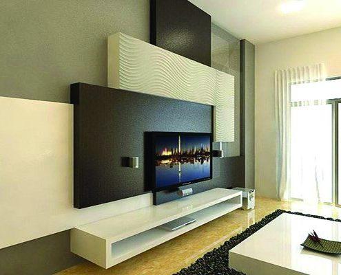 Meuble-TV-Lumineux-495x400 Idées De Décoration