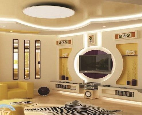 Meuble-TV-Lumineux-Décoration-dintérieur-Sensys-Afric-Copier-495x400 Second Œuvre Bâtiment - Construction Sénégal