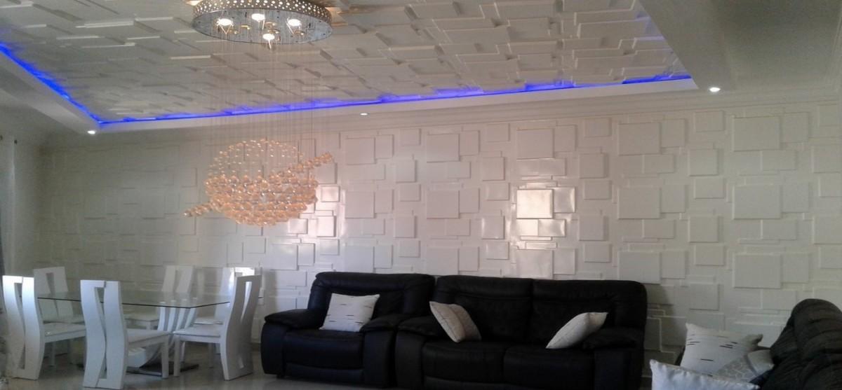 Sensys-AFric-Panneaux-3D Décoration Faux Plafond