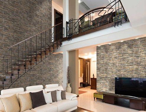 pierre-naturelle-salon-noor-ceramics-495x380 Aménagement intérieur maison contemporaine