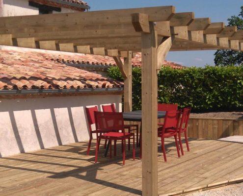 Pergola-bois-Dakar-Sénégal-Sensys-Afric-4-495x400 Décoration Salon - Model Faux Plafond au Sénégal